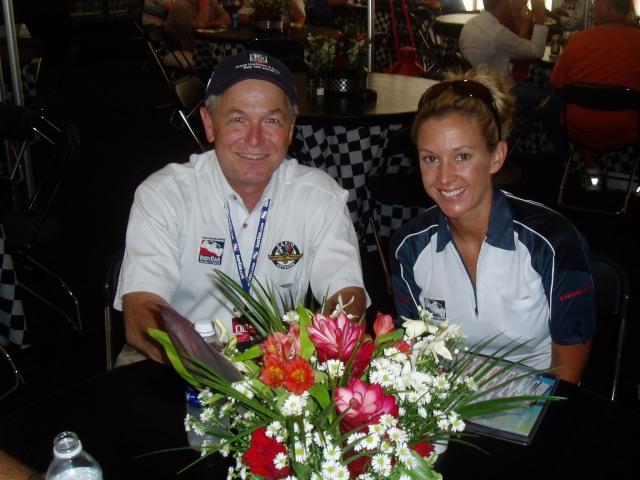 Wally and Nicole Briscoe in Penske Hospitality