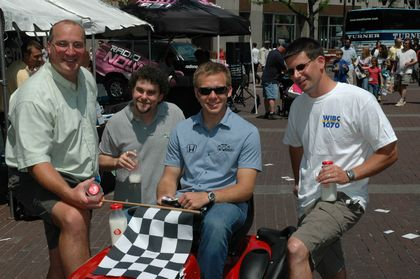L-R Big Joe Staysniak, Matt Hibbeln, Ed Carpenter, Kevin Lee