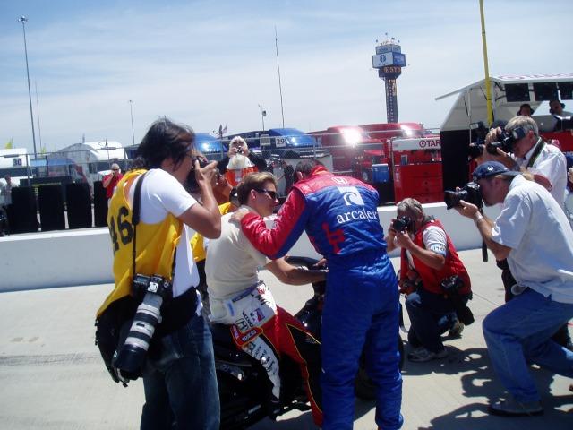 Dan Wheldon and Dario Franchitti, Kansas 2005