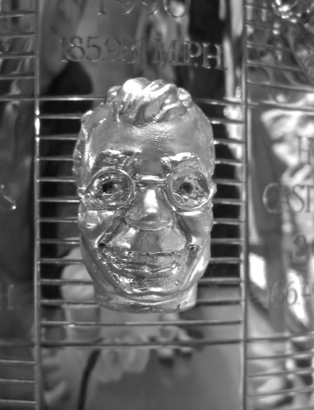 Dave's face on the Borg Warner Trophy for 10 minutes